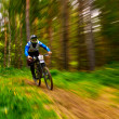 Mountain bike extreme competition — ストック写真