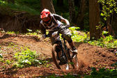 Mountain bike extreme competition — Stock Photo