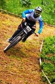 Concorso bici montagna estrema — Foto Stock