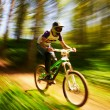 Stock Photo: Extreme mountain bike competition
