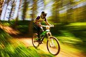 Extreme mountain bike competition — Stock Photo