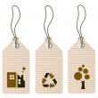 Eco tags set isolated on white — Stock Photo