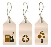Eco tags set isolated on white — Stock Photo
