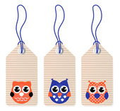Cute halloween owl blank tags — Vecteur