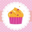 Cute sweet party cupcake card — Stock Vector