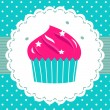Retro party cupcake template — Stock Vector