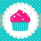Retro party cupcake template — Stock Vector