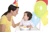 Baby's First birthday party — Stock Photo