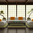 Interior in Japanese style — Foto Stock