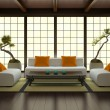 Interior in Japanese style - Stock Photo
