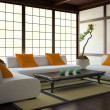 Stock Photo: Interior in Japanese style