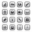 Business and office objects icons - Imagen vectorial