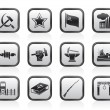 Communism, socialism and revolution icons - Stock Vector