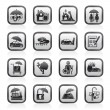Insurance and risk icons - Stok Vektör