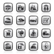 Insurance and risk icons - Image vectorielle