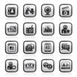 Social networking and communication icons — Stock Vector