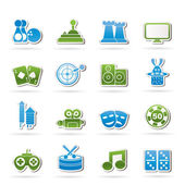 Entertainment objects icons — Stock Vector