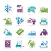 Different kind of business and industry icons — Stock Vector