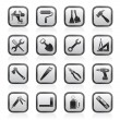 Building and Construction work tool icons — Stock Vector #10948432