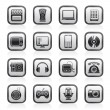 Multimedia and technology icons — Stock Vector #10948456