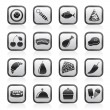 Different kind of food icons - Vettoriali Stock