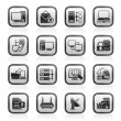 Computer Network and internet icons - Stock Vector