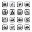 Taxes, business and finance icons - Vettoriali Stock