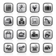 Taxes, business and finance icons - Stock vektor