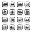 Shipping and logistics icons - Image vectorielle
