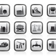 Stock Vector: Heavy industry icons