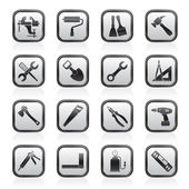 Building and Construction work tool icons — Stockvektor