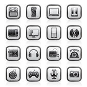 Multimedia and technology icons — Stok Vektör