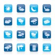 Stock Vector: Weather and meteorology icons