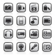 Multimedia and technology icons — Stock Vector #11068652