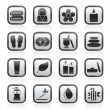 Royalty-Free Stock Vector Image: Spa objects icons