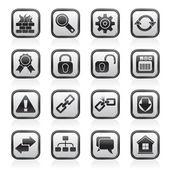 Internet und website-symbole — Stockvektor
