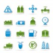 Natural gas objects and icons — Stock Vector #11167112