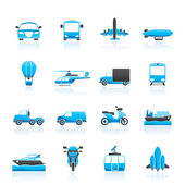 Transportation and travel icons — Stock Vector