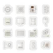 Computer Performance and Equipment Icons — Stock Vector