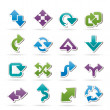 Different kind of arrows icons — Stock Vector