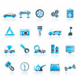 Car services and transportation icons - Grafika wektorowa