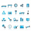 Car services and transportation icons - Image vectorielle
