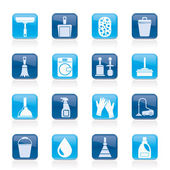 Cleaning and hygiene icons — Stockvector