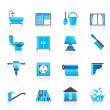 Construction and building equipment Icons - Stock Vector