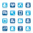 Social Media and Network icons — Stock Vector