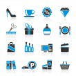 Stock Vector: Shopping and mall icons
