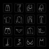 Clothing and Dress Icons — Stock Vector