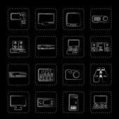 High-tech-ausrüstung-symbole — Stockvektor