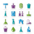 Cleaning and hygiene icons — Vector de stock #11564084