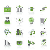 University and higher education icons — Stock Vector
